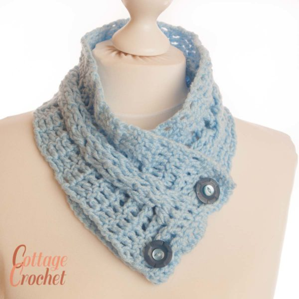 blue neck warmer